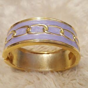 Purple + Gold Bangle Bracelet
